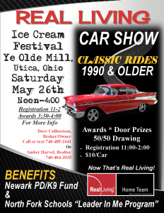 Real Living Car Show - Ice Cream Festival @ Ye Olde Mill, Utica | Utica | Ohio | United States