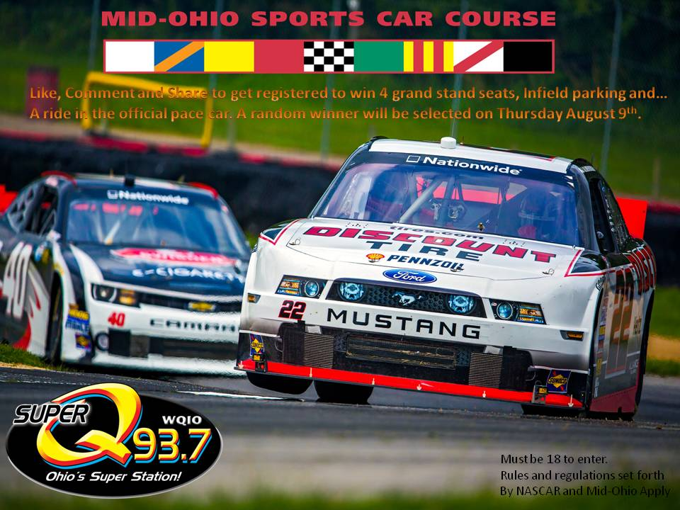 Win A Ride In The NASCAR Pace Car At Mid Ohio WQIO