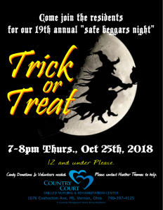 Safe Beggers Night At Country Court @ Country Court | Mount Vernon | Ohio | United States